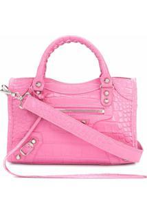 Balenciaga Bolsa Tote City Mini - Rosa