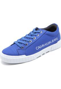 Sapatênis Calvin Klein Lettering Azul