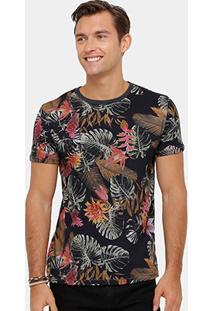 Camiseta Triton Full Print Folhagem Masculina - Masculino