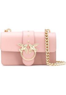 Pinko Bolsa Transversal Love Mini - Rosa