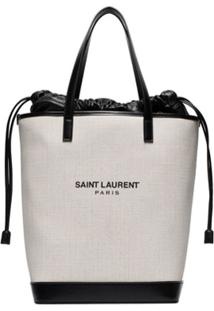 Saint Laurent Bolsa Tote 'Teddy' - Neutro