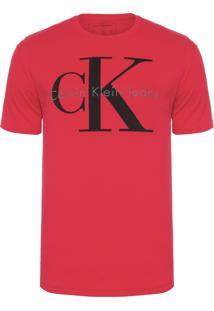 Camiseta Masculina Logo Relevo - Vermelho