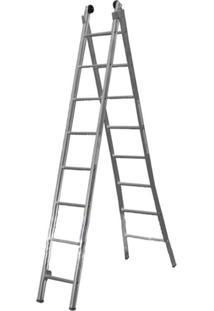 Escada De Alumínio Alulev, 2 X 08 Degraus - Ed108