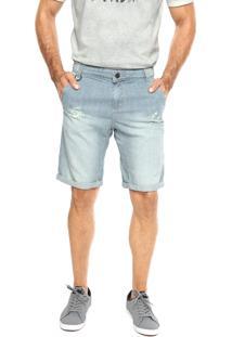 Bermuda Sarja Coca-Cola Jeans Low Fit Azul