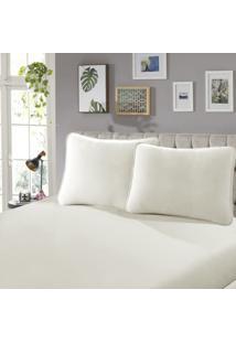 Lençol Com Elástico Queen 35 Confort 1 Peça Branco - Sbx Têxtil
