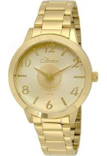 Relógio Condor Feminino Illusion - Feminino-Dourado