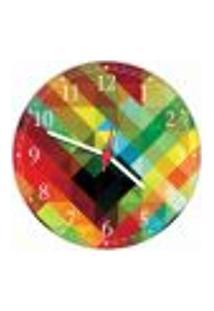 Relógio De Parede Abstrato Geométrico Arte Moderna Salas Cozinhas