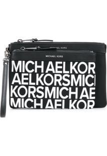 Michael Michael Kors Bolsa Clutch Com Logo - Preto