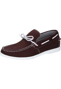 Docksider Casual Moderno Shoes Grand Confortável Bordo