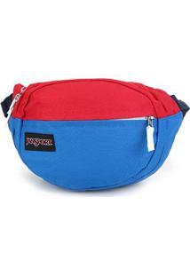 Pochete Jansport Fifht Avenue - Unissex-Azul+Vermelho