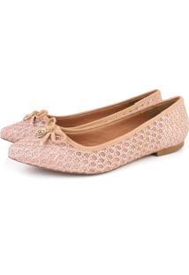 Sapatilha Trivalle Shoes Crochê Rosê