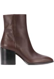 Aeyde 80Mm Leandra Ankle Boots - Marrom