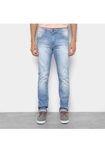 Calça Jeans Triton Slim Fit Masculino - Masculino-Azul Claro