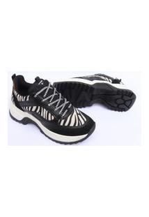 Tenis Via Marte Feminino Sneaker Chunky Slip On Sapatenis 1021 Preto