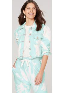 Jaqueta Jeans Feminina Trucker Tie Dye