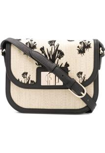 Furla 1927 Floral Embroidered Crossbody Bag - Neutro