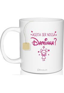 Caneca Convite Personalizada Disney - Para Daminha