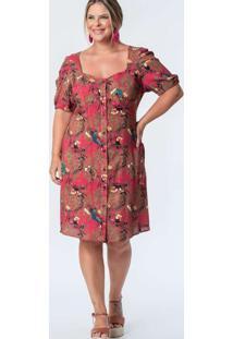 Vestido Curto Almaria Plus Size Munny Estampado Ve