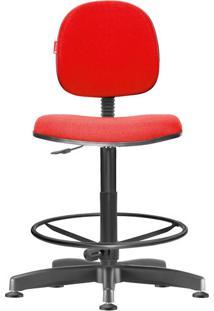 Cadeira Caixa Alta Executiva Giratória Crepe Vermelho