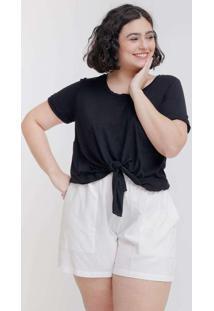 Camiseta Cropped Almaria Plus Size Tal Qual Nó Fro