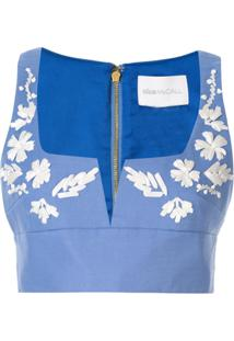 Alice Mccall Blusa Cropped 'Pastime Paradise' - Azul