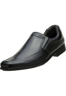 Sapato Social Couro Pelica - Masculino-Preto