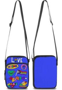 Mini Bolsa Marvs Bag Shoulder Transversal - Unissex-Azul