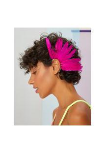 Amaro Feminino Ear Cuff Penas, Pink