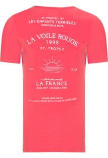 Camiseta Masculina Voile Rouge - Vermelho