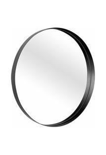 Espelho Decorativo Round Preto Interno 30 Cm Redondo
