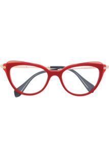 Miu Miu Eyewear Óculos De Sol Gatinho - Vermelho