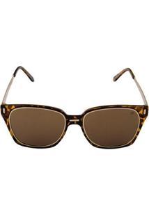 Óculos De Sol Khatto Guepardo Feminino - Feminino-Caramelo