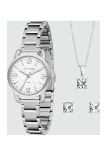 Kit Relógio Feminino Lince Lrmj071Lk282B2Sx