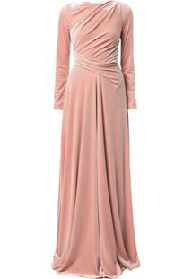 9b142ff07 ... Talbot Runhof Vestido De Festa Ross Com Drapeado - Rosa