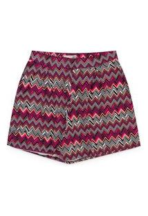 Shorts Feminino Plus Size Viscose Elastano Estampado
