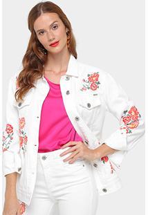 ... Jaqueta Sarja Colcci Bordada Feminina - Feminino-Off White 1467dfad63fbc