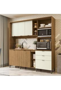 Cozinha Compacta Frow I 5 Pt 3 Gv Freijó E Off White 215 Cm