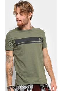 Camiseta T-Shirt Acostamento Masculina - Masculino-Verde Militar