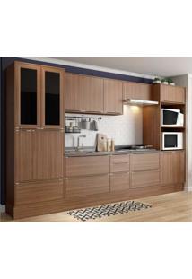 Cozinha Completa Multimã³Veis Com 10 Peã§As Calã¡Bria 5451R Nogueira - Incolor/Marrom - Dafiti