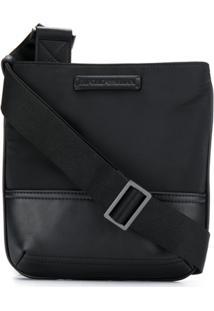 Emporio Armani Logo Messenger Bag - Preto