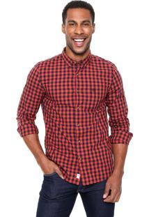 Camisa Timberland Xadrez Vermelha