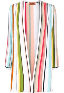 Missoni Open Front Striped Cardigan - Azul