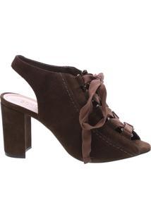 Sandal Boot Block Heel Lace Up Aloe   Schutz