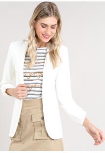 8f2095d27f Blazer Branco Embutir feminino
