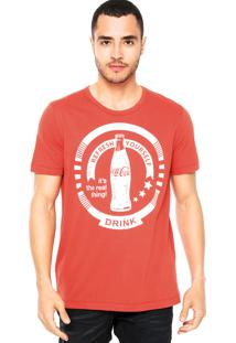 Camiseta Coca-Cola Jeans Refresh Vermelha