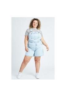 Macacão Jeans Blue Médio Gang Plus Size Feminino