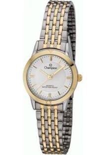 Relógio Champion Analógico Feminino - Feminino-Prata+Dourado