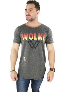 Camiseta Wolke Oversized Básica Fire Wlk