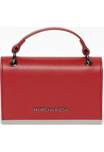 Bolsa Transversal Texturizada- Vermelha & Prateada- Morena Rosa