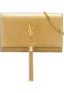 Saint Laurent Small Kate Cross-Body Bag - Dourado